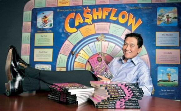 Роберт Кийосаки автор игры Cashflow 101 и Cashflow 202, в России больше известна под названием Денежный поток