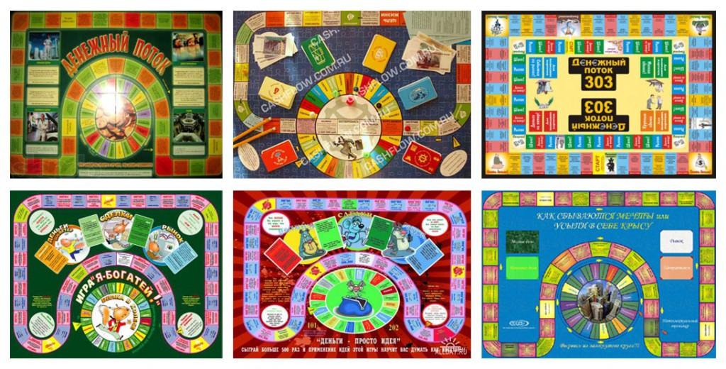 Различные полулегальные копии игры Денежный поток 101 и 202, не имеющие отношения к Роберту Кийосаки