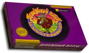 Оригинальная коробка для игры Денежный поток из Москвы по лицензии от Роберта Кийосаки